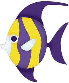 Blue and purple fish.