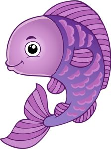 cute purple fish clipart - Clipground