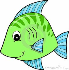 Fish Clip Art For A Kids Fishing Game.