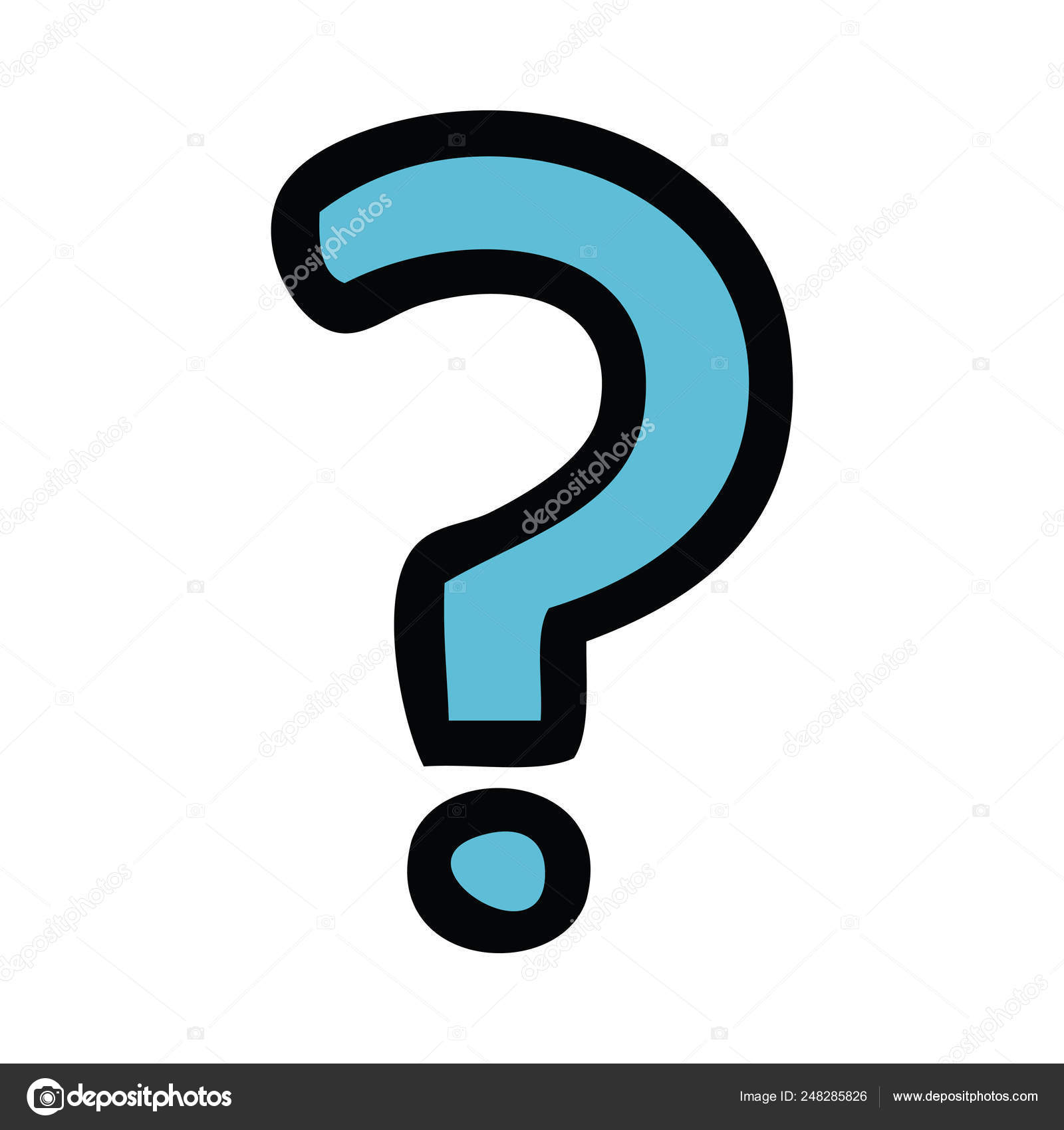 cute cartoon question mark — Stock Vector © lineartestpilot #248285826.
