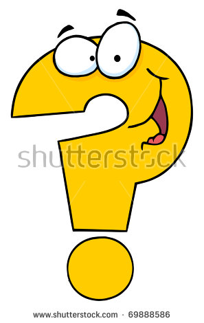 Cute Question Mark Stock Images, Royalty.