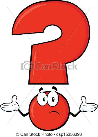 EPS Vectors of Red Question Mark Cartoon Character With A Confused.
