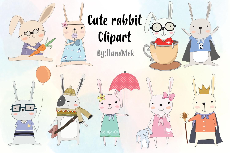 Cute rabbit Clipart.