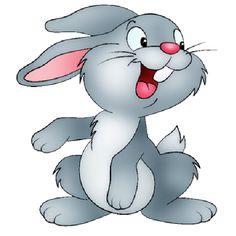 Cute Bunny Cartoon PNG Clip Art Image.