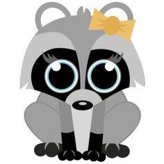 Cute raccoon clipart » Clipart Portal.