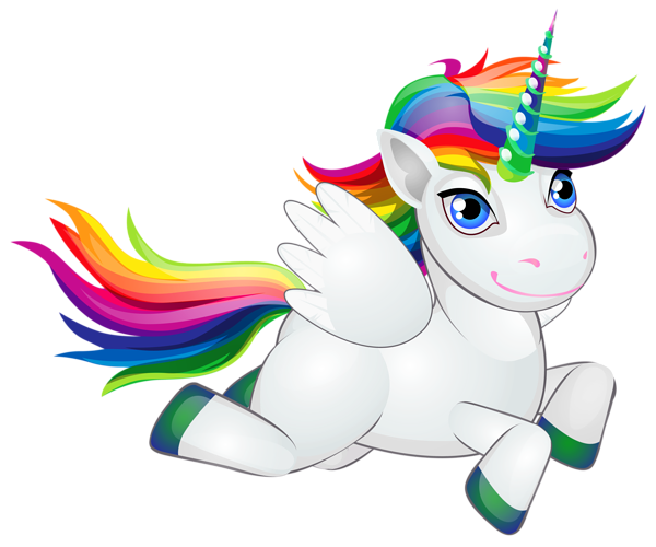 Cute Rainbow Pony PNG Clip Art Image.