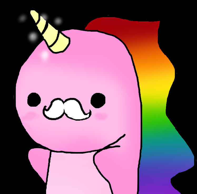 Cute rainbow unicorn clipart.