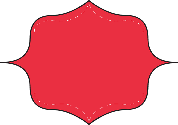 Cute Red Clipart Border.