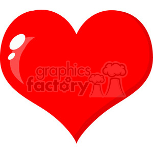 cute red heart clipart #12