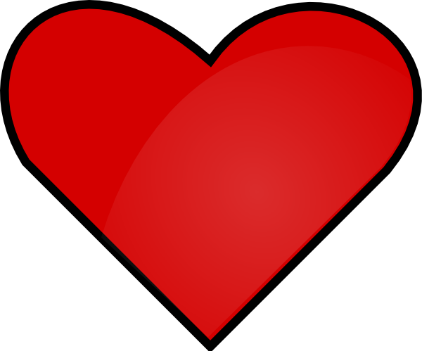 Red Love Heart Clipart.