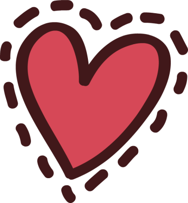 Cute Red Heart Clipart.