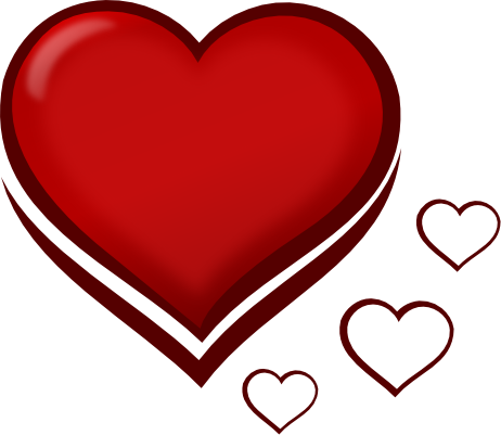 Cute Red Heart Clipart.