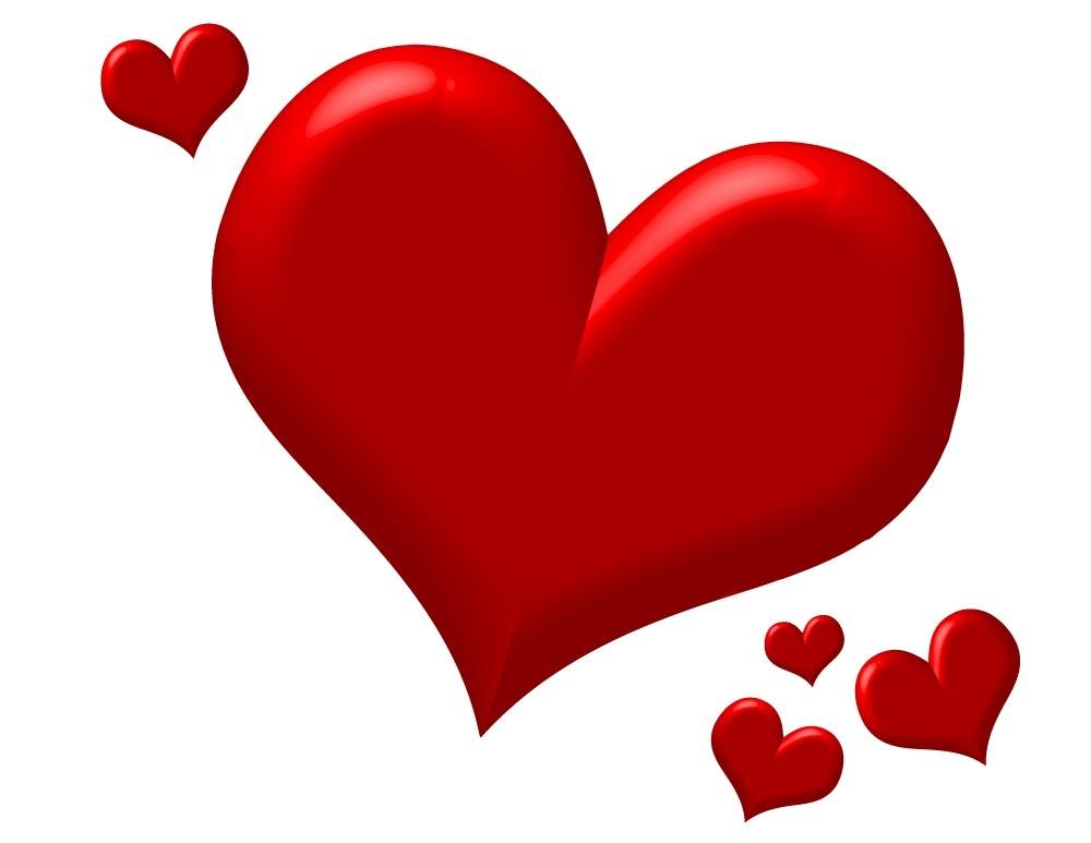 cute red heart clipart #6