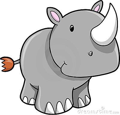 Cute Rhino Clipart.