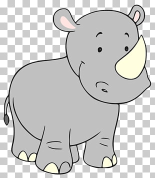 40 cute Rhino PNG cliparts for free download.