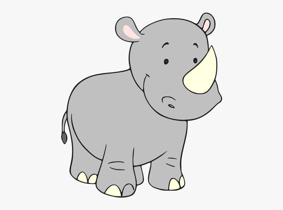 Rhinos Drawing Baby.