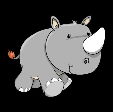 1003 Rhino free clipart.