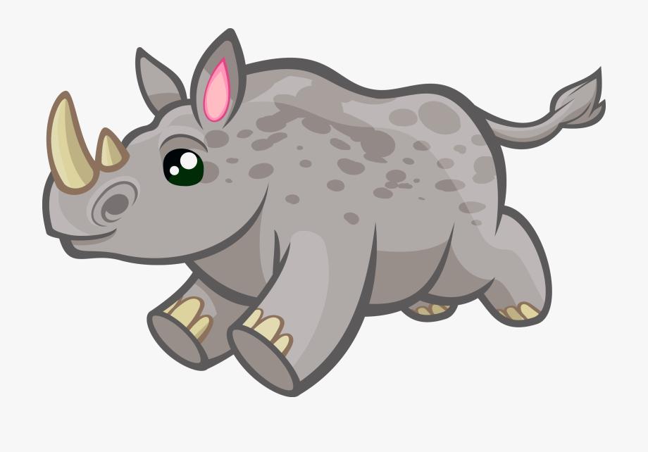 Rhino Animal Cliparts.