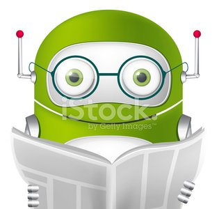 Cute Robot Clipart Image.