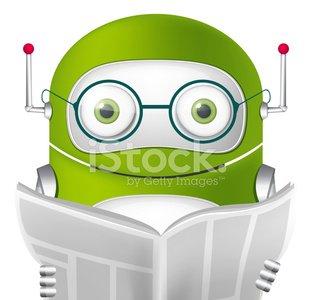 Cute Robot Clipart Image.