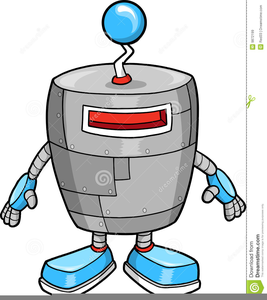 Cute Robot Clipart Free.