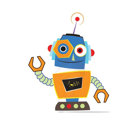 Cute Robots Clipart.