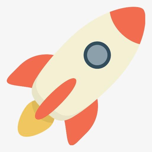 Cute Rocket Clipart.