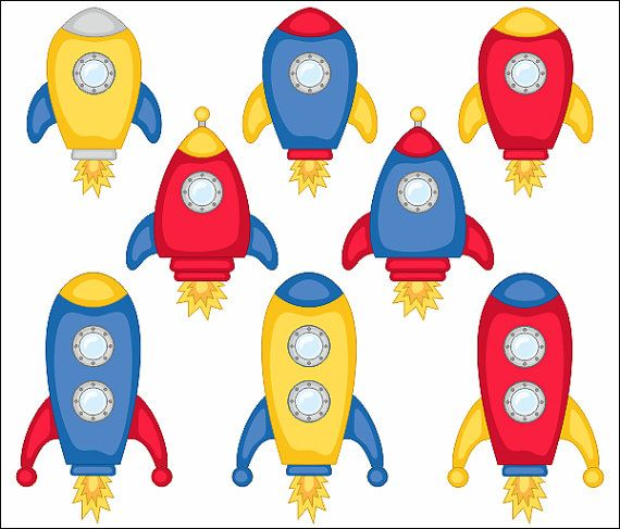 Cute Spaceships Clip Art Rocket Clipart Vehicle by.