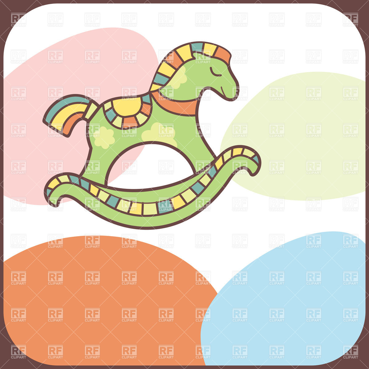 Cute rocking horse Vector Image #20444.