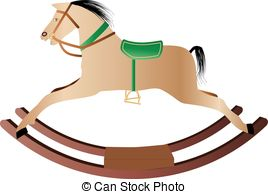 Vector of rocking horse.