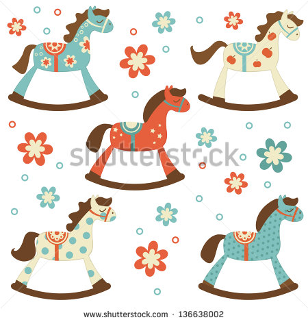 Rocking Horse Stock Images, Royalty.