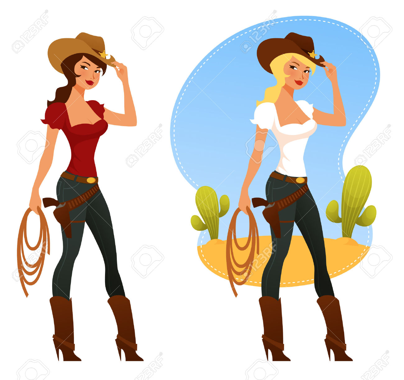 Showing post & media for Rodeo girl cartoon.