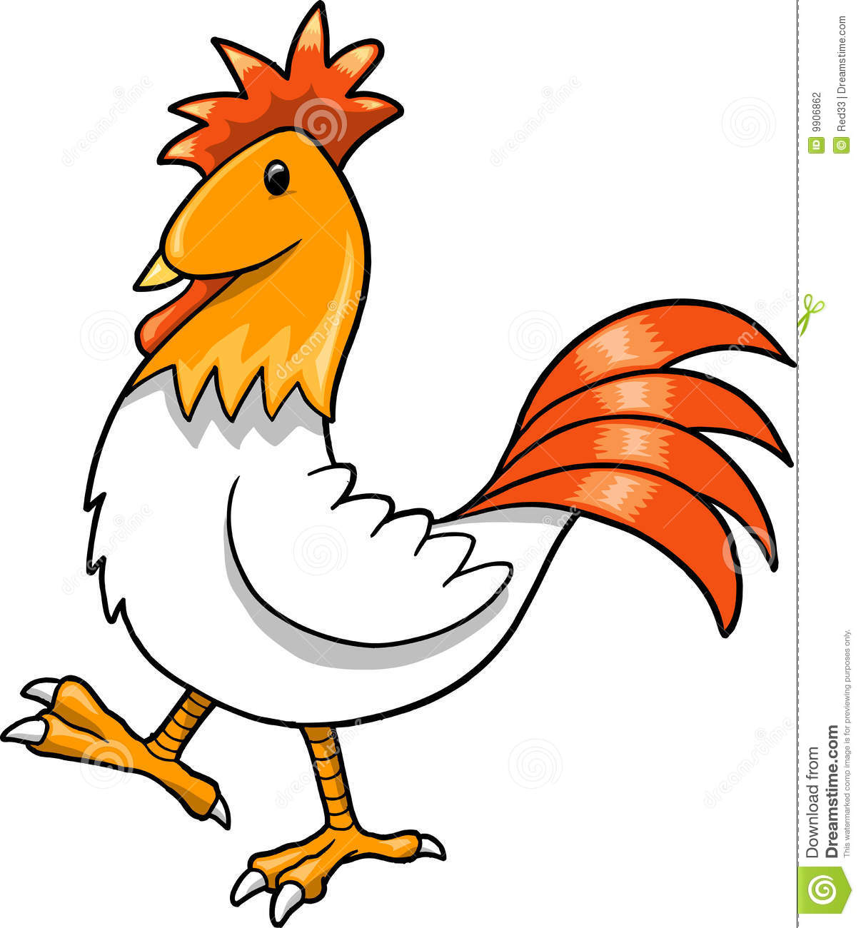 Cute Rooster Clipart.