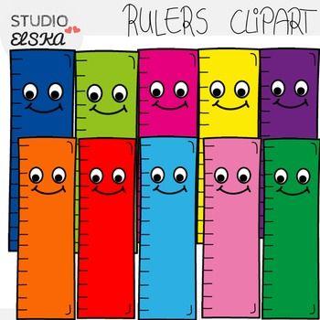 Cute Rulers Clipart FREEBIE.
