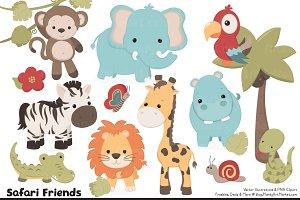 Safari animal clipart Photos, Graphics, Fonts, Themes, Templates.