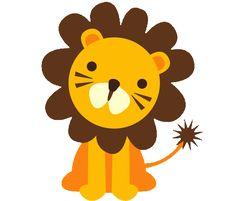 Safari Animals Clip Art Cute Jungle Animal by NRCDesignStudio.