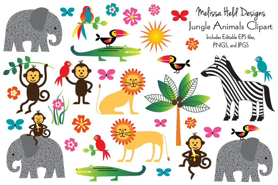 Jungle Animal Clipart.