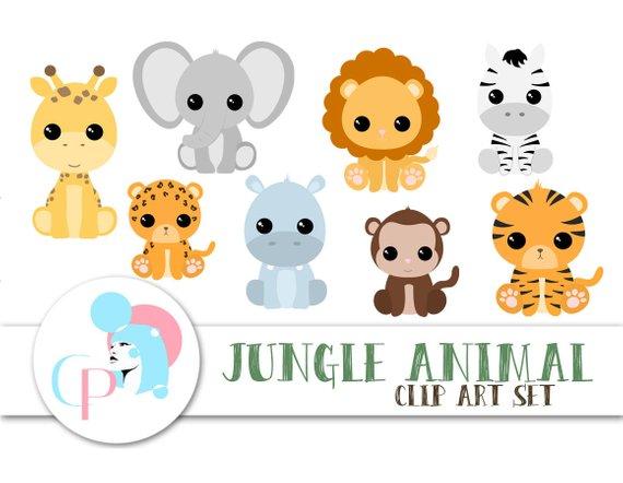 50% OFF Jungle Animal ClipArt Set.