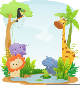 Cute Safari Animals Clipart.