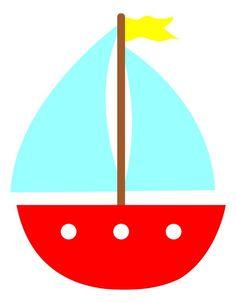 Sailboat Cartoon Clipart.