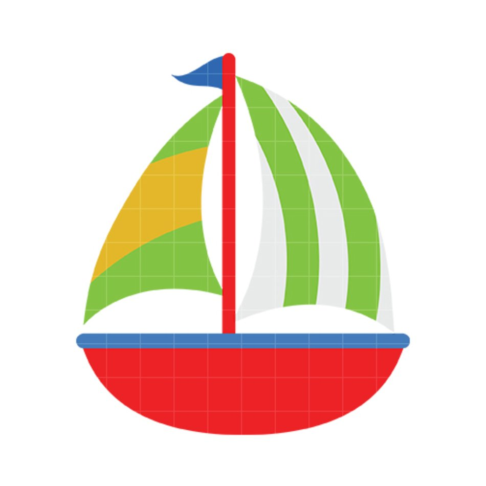 Cute Sailboat Clip Art N2 free image.
