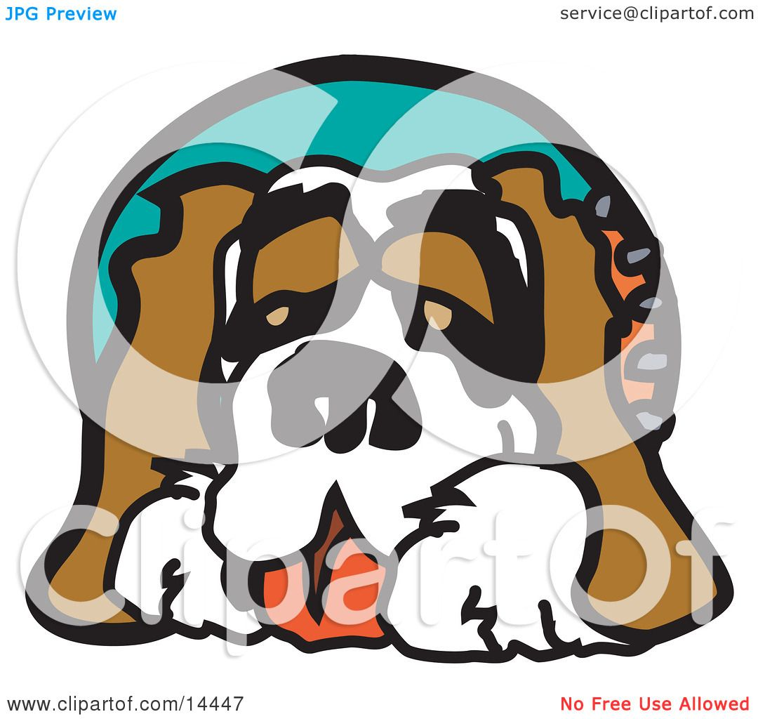 Cute St Bernard Dog Clipart Illustration by Andy Nortnik #14447.