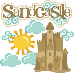 Cute Sand Castle Clipart.