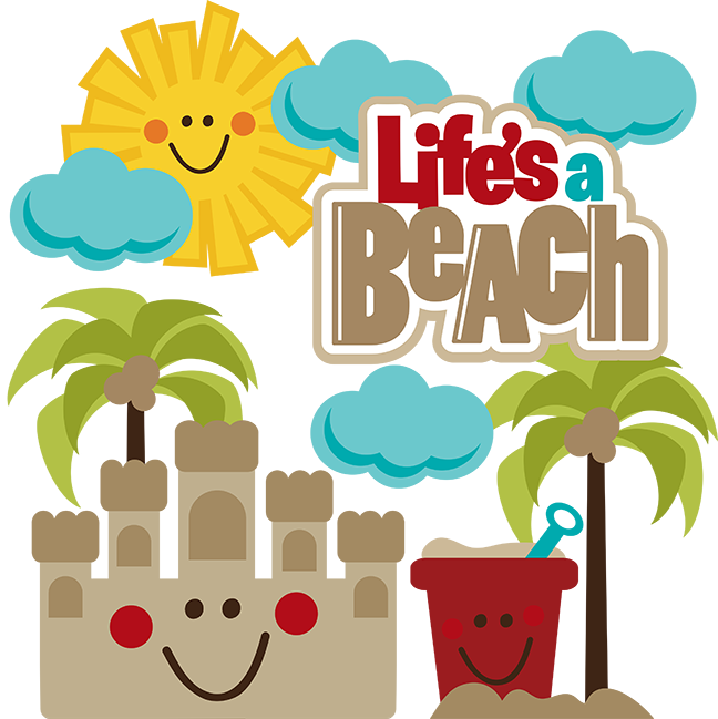 Cute Sand Beach Clipart.