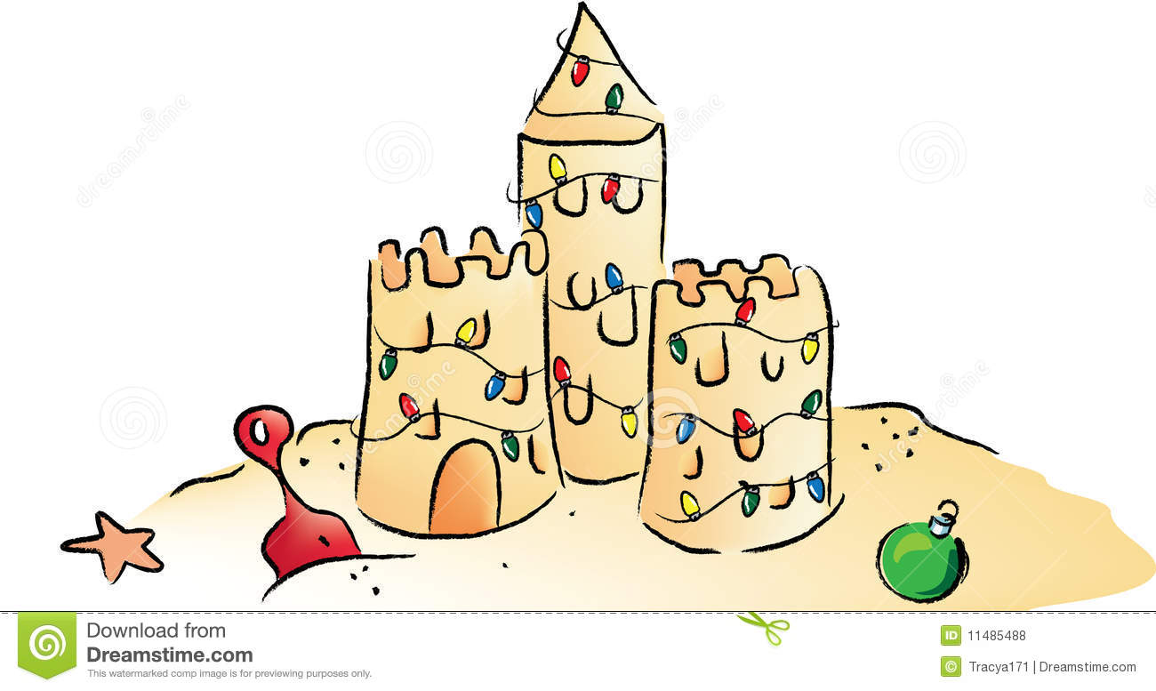 Cute Sand Castle Clip Art , Sandcastle Free Clipart.
