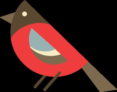 Cute Santa Bird Clipart.