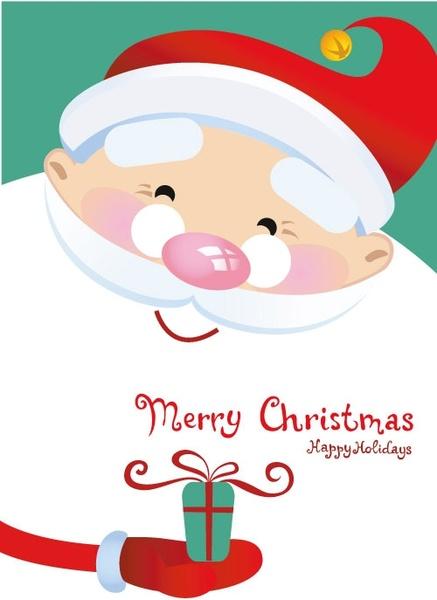 Winter christmas santa claus reindeer clipart free vector download.