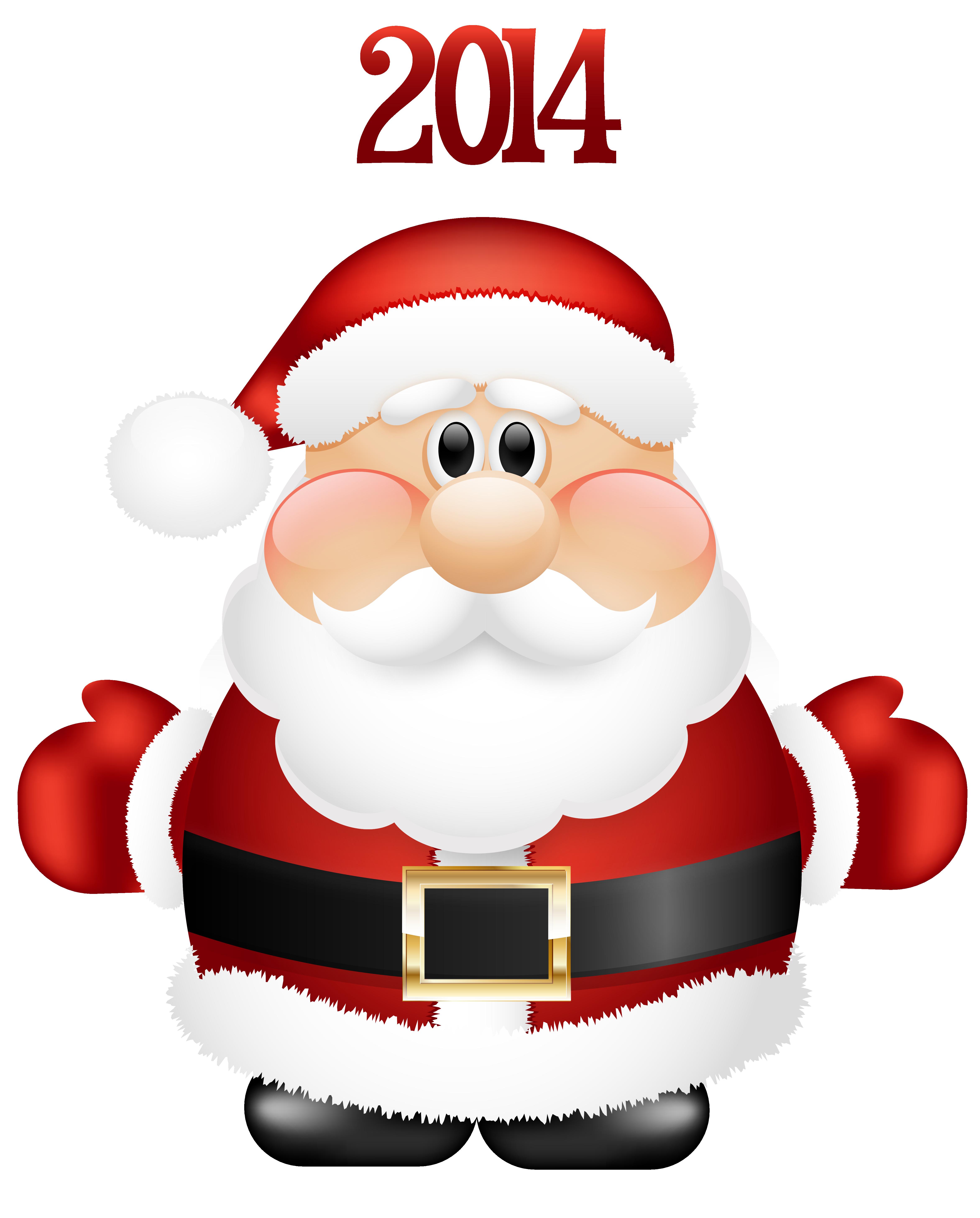 Transparent Cute Santa Claus 2014 PNG Clipart.