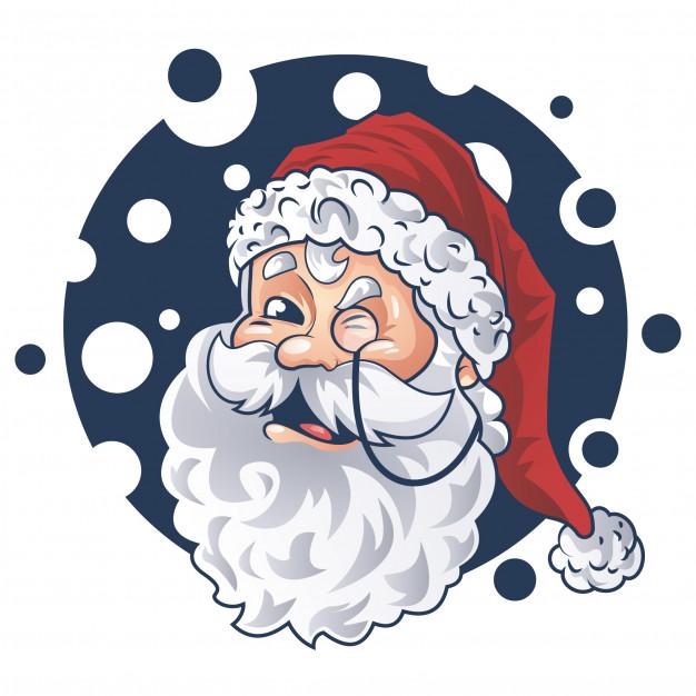 Cute santa face vector design Vector.