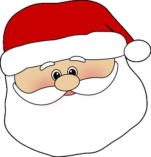 Christmas Santa Face Clipart.